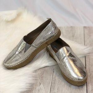 Steve Madden Silver Espadrilles Flats - Size 6